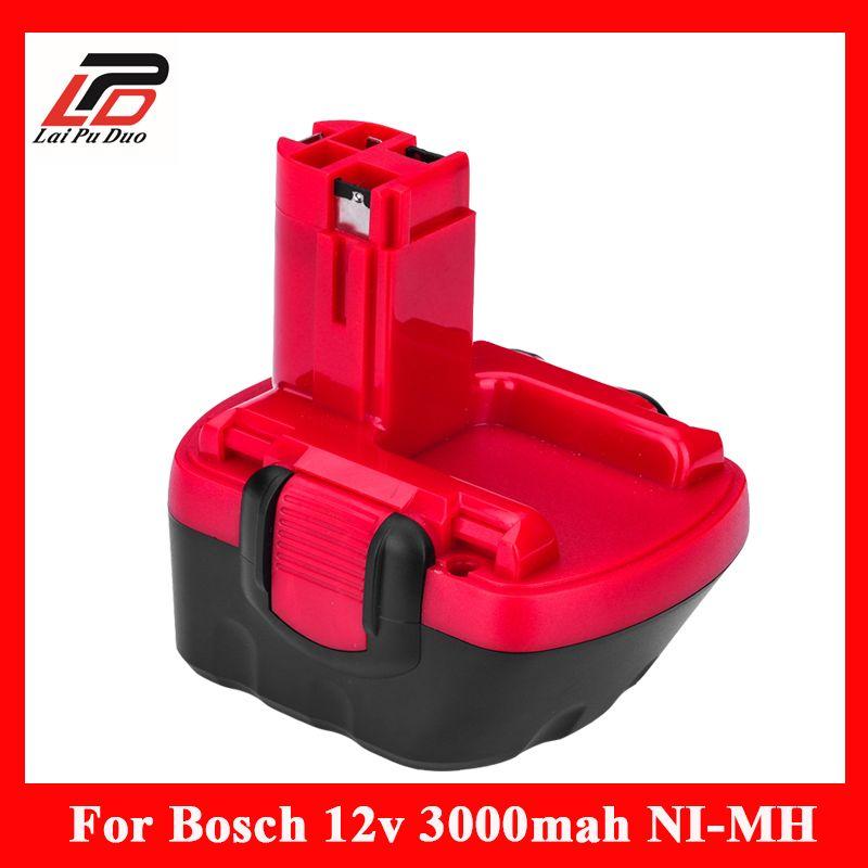 12 v 3.0A Remplacement Pour Bosch outil batterie 2607335709 2607335249 2607335261 2607335262 GSR12-1 GSB12VE-2 PSR1200 Perceuse
