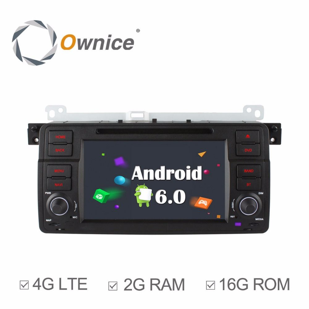 Ownice C500 Android 6.0 Octa 8 Core for bmw E46 M3 car dvd gps navi wifi 4G BT Radio RDS 2GB RAM 32GB ROM support DAB+ TPMS