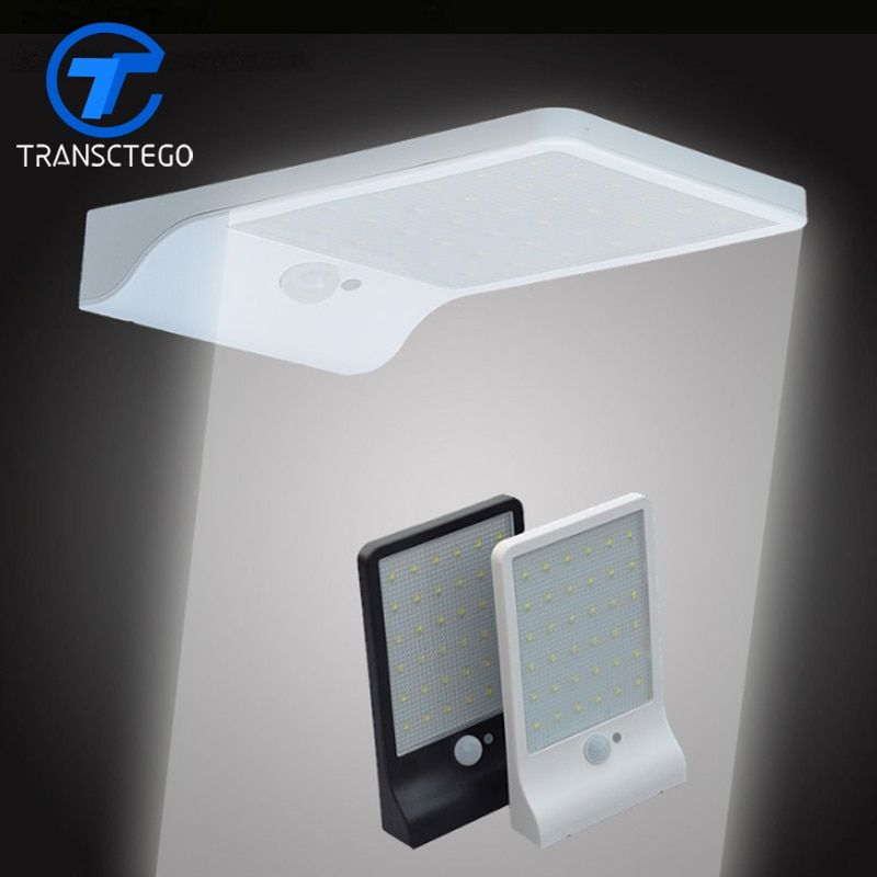 LED Solar Light Human Body Induction Wall Lamp Ultrathin Out Door Street Light Solar charging Lamp