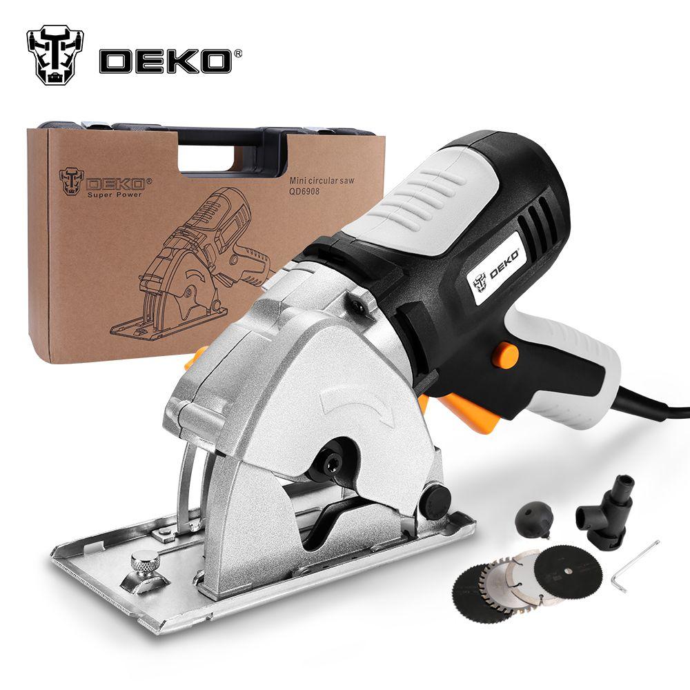 Kreissäge DEKO TMK02 kleine runde runde Hand power, 4 klingen BMC box elektrische säge