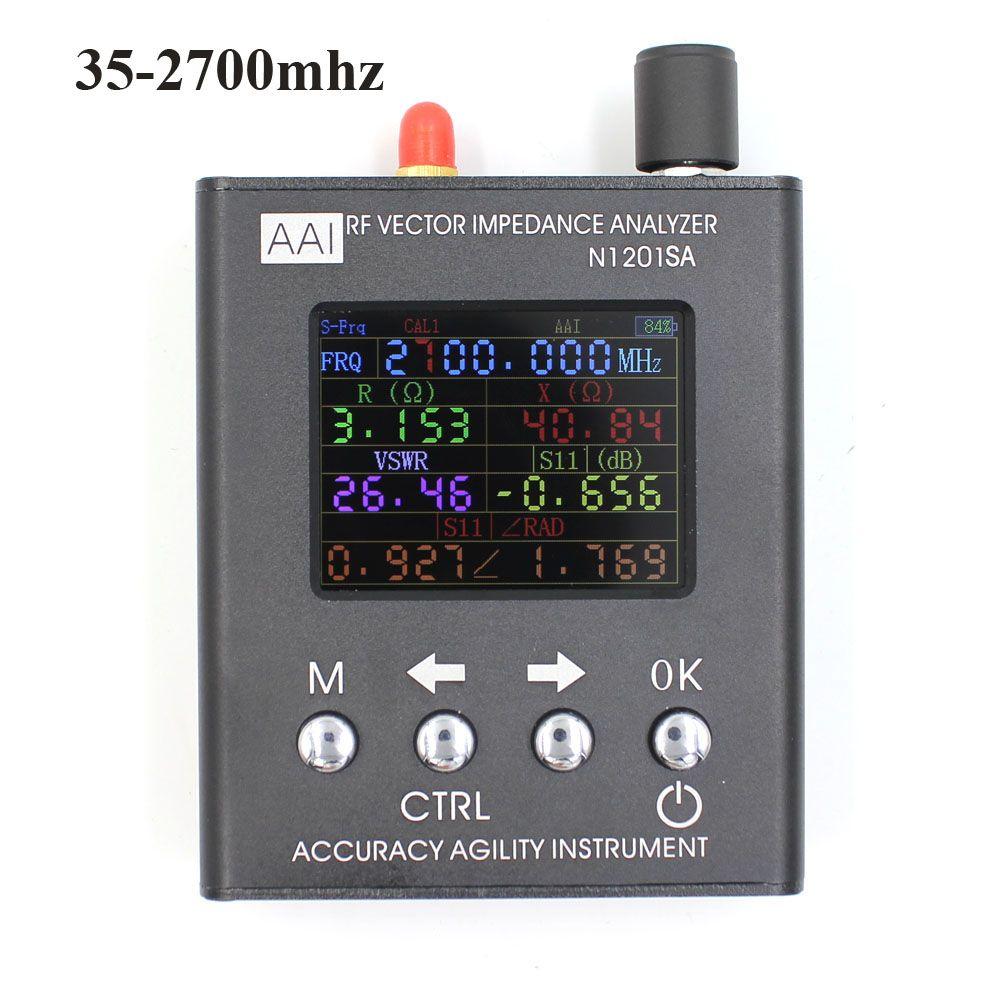 Englisch verison N1201SA + UV RF Vector Impedanz ANT SWR Antenna Analyzer Meter Tester 35 mhz-2,7 ghz widerstand /impedanz/SWR