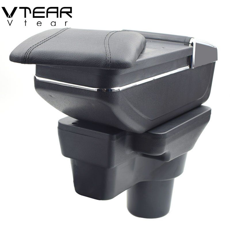 Vtear For Hyundai solaris 2 accent armrest box central Store content box cup holder ashtray interior car-styling 2017-2018