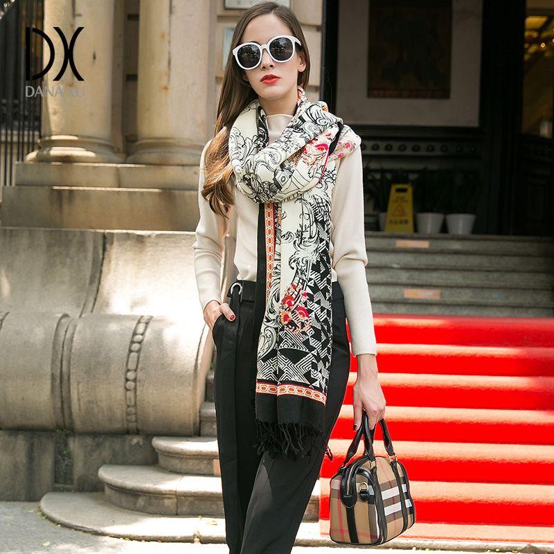 Nouvelle mode hiver écharpe pour femmes écharpes châles chauds marque de luxe Wrap Plaid couverture écharpe laine cachemire Foulard visage bouclier