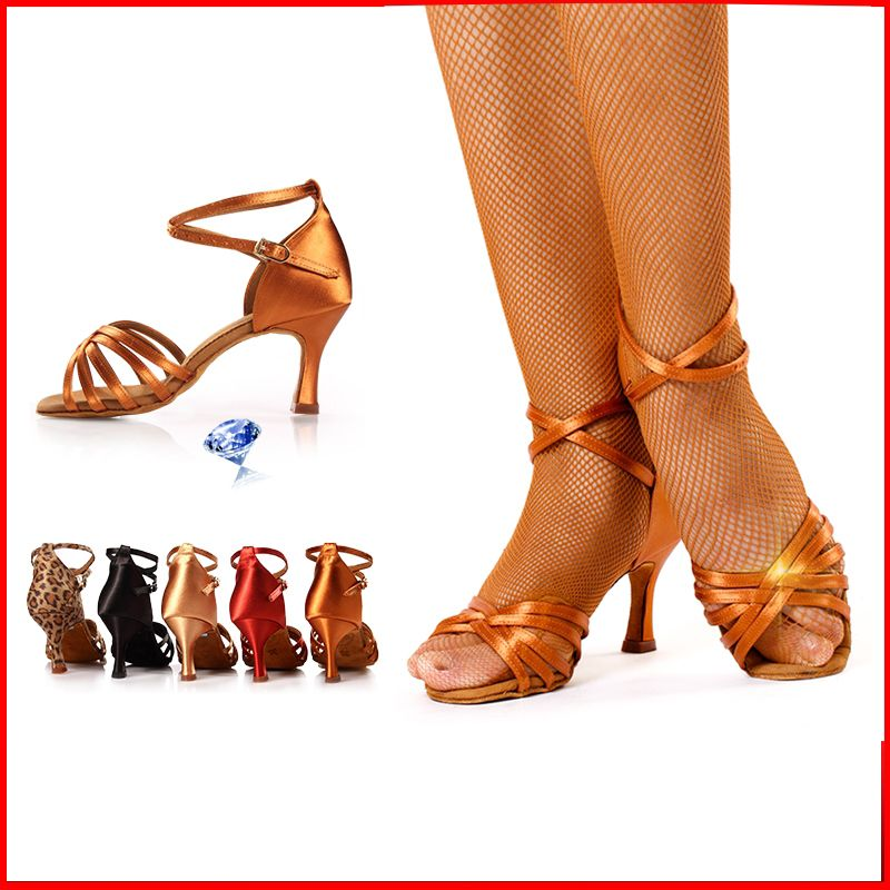 High-grade Satin competition practice dedicated Latin dance shoes Sports fitness preferred BD211 Modern Women shoes Non-slip Hot