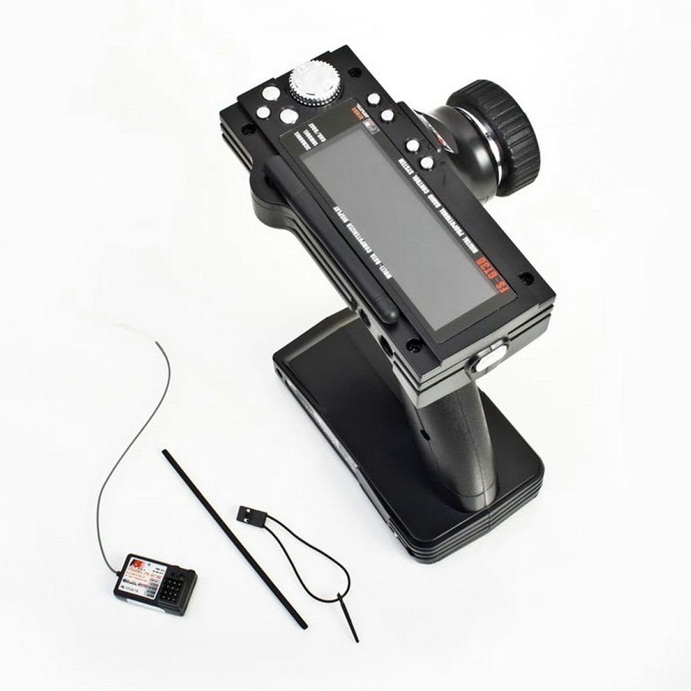 FS-GT3B 2.4G 3CH RC Boat or Car Control Gun Transmitter & Receiver For the Radio Control Models High Sensitivity with LED Screen
