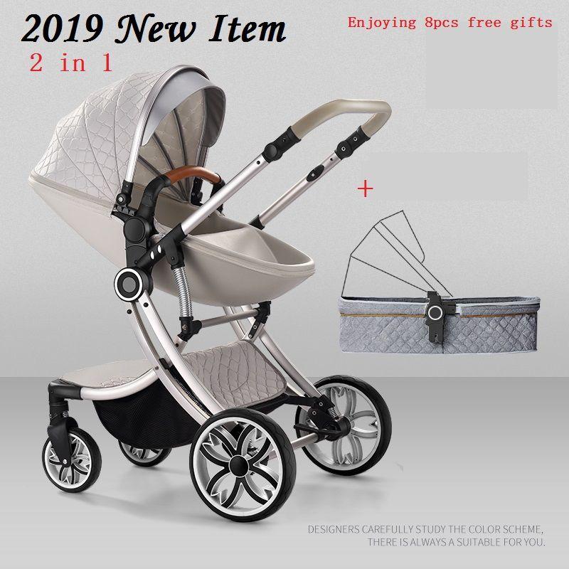 Bolina livraison gratuite poussette bébé haut paysage chariot 2018 nouveau 2 en 1 landau similaire à Aulon