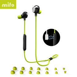 mifo i8 Sports Bluetooth Earphone Stereo Music Earpiece Wireless Headset Magnetic Suction HIFI Sound Headphone For Iphone Huawei