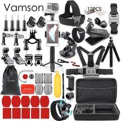 Vamson für Gopro Zubehör für go pro hero 7 6 5 4 kit halterung für SJCAM für SJ4000/für xiaomi für yi 4 k für eken h9 VS84