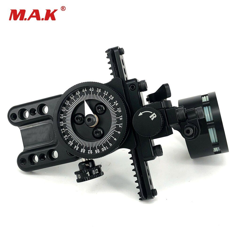 Compound Bow Single Needle Sight Aluminum Adjustable Pointer HRD Technology for Archery Hunting Shooting