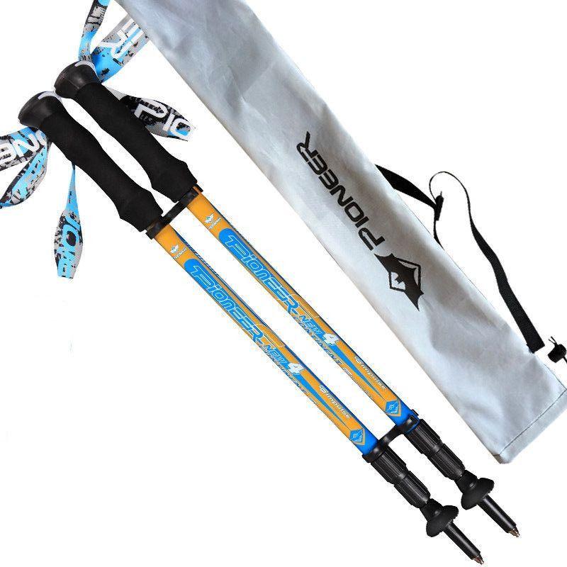 carbon fiber adjustable super short 55cm 3 sections lightweight 170g EVA handle retractable nordic walking sticks hiking pole