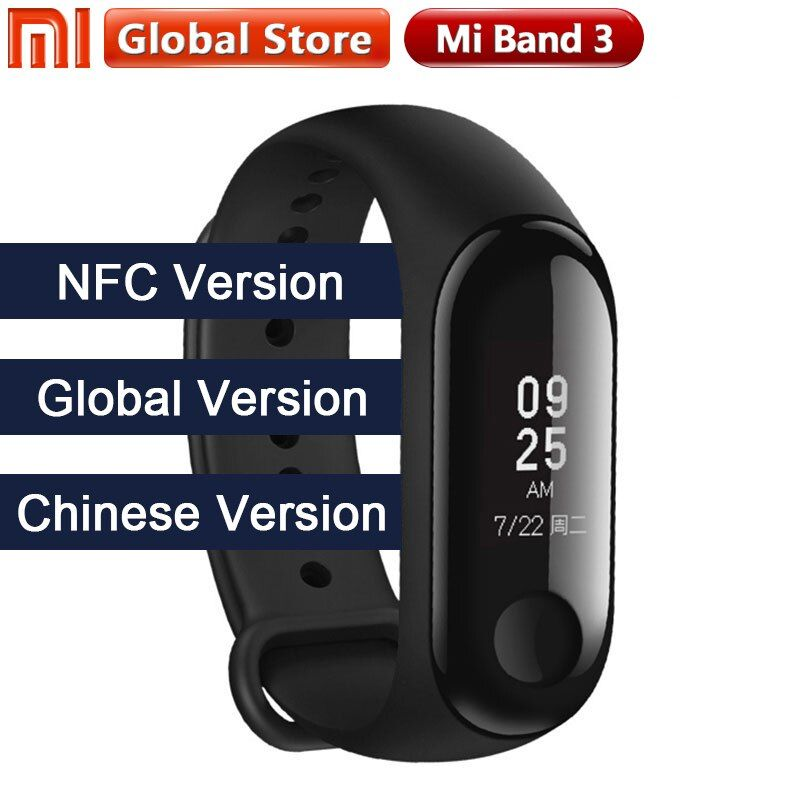 2018 New Multi Language Original Xiaomi Mi Band 3 Fitness Tracker 0.78