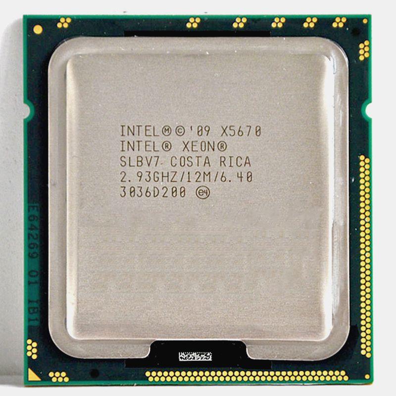 INTEL xeon X5670 processeur intel X5670 Six Core 2.93 GHz LGA 1366 TDP 95 W 12 MB CPU garantie 1 année approprié X58 motherbaord