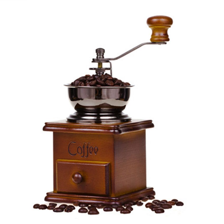 Manual Coffee Grinder Hand Moledor Cafe Conical Burr Mill for Precision Brewing Brushed For Home