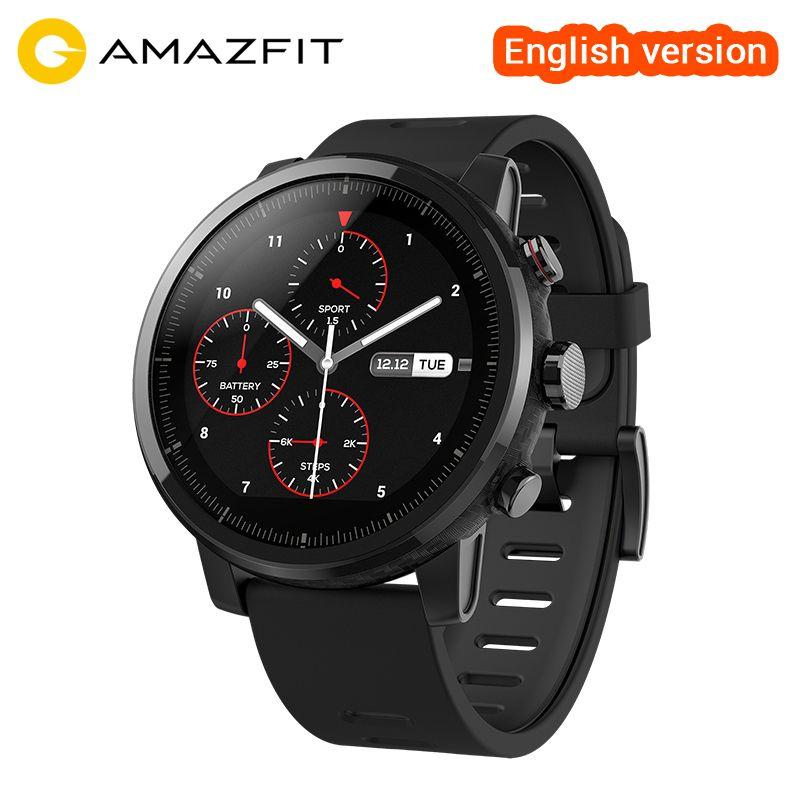 [Anglais Version] officielles Amazfit Stratos Montre Smart Watch 2 Bluetooth GPS PPG Coeur Monior 11 Sortes de Sport Mode 5ATM Étanche