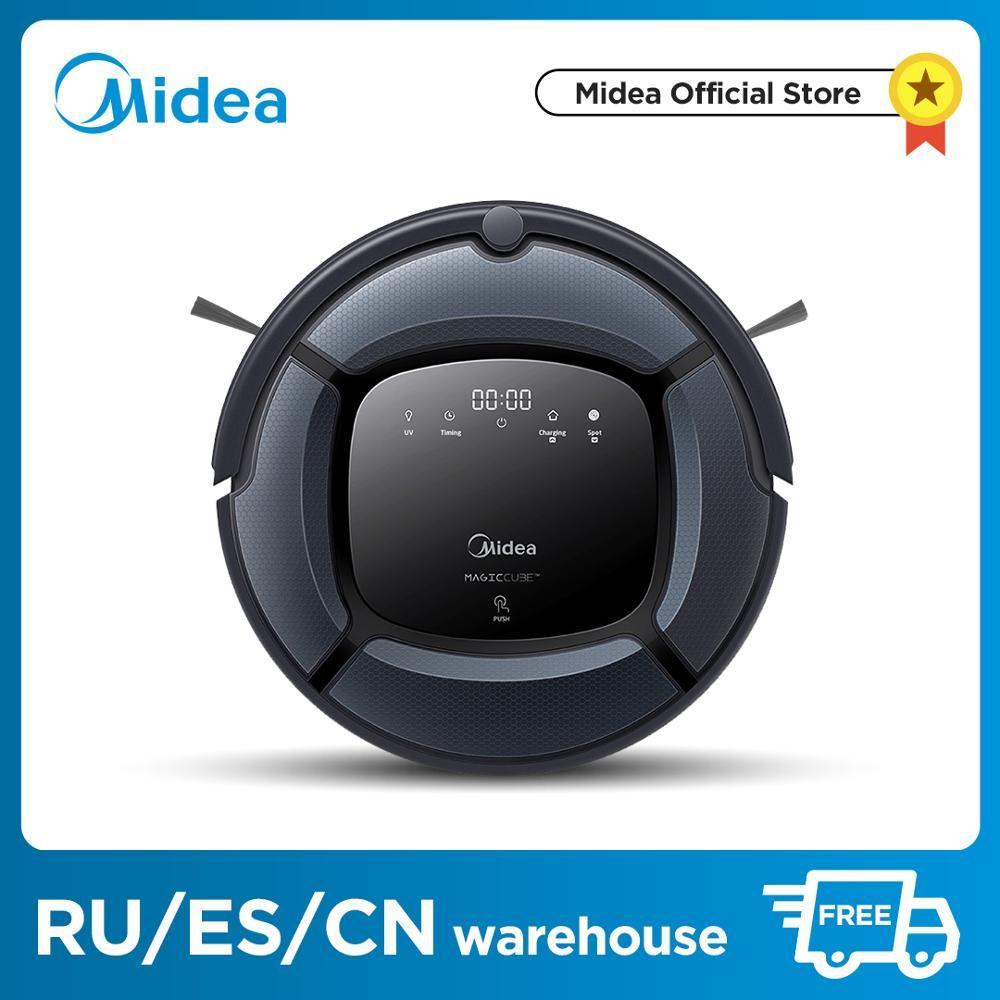 Midea Robot aspirateur intelligent MR04 \ 03 2in1 pour aspirateur et vadrouille, aspiration puissante, lampe UV avec Robot Aspirador 4 Modes
