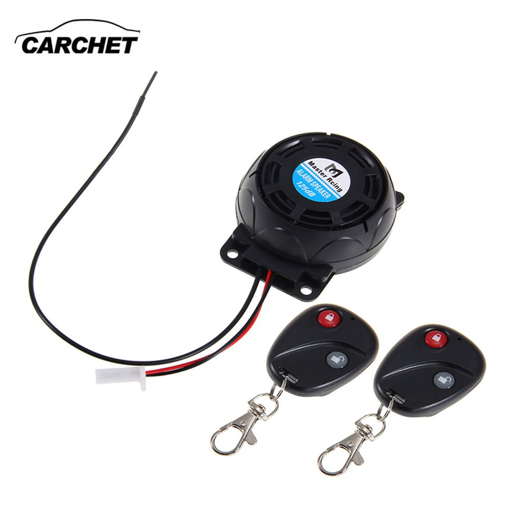 CARCHET Motorcycle Alarm 2 Remote Controls Anti-theft <font><b>Security</b></font> System Vibration Lock Burglar Alarm Dual Remote Control Sensor
