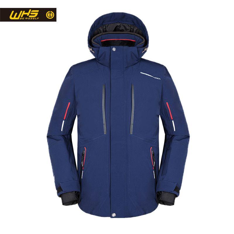 WHS 2018 New men Outdoor Ski Jackets windproof men warm Coat men snow jacket Teenager Slim clothes male Warm Jacket great color
