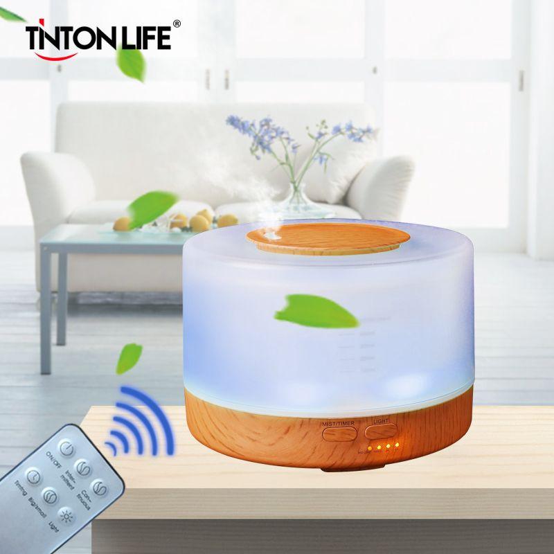 TINTONLIFE Humidificateur 500 ml Coloré LED Lumière Aromathérapie Air Humidificateur À Ultrasons Mist Maker