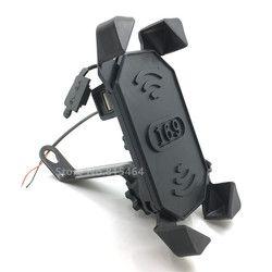 Yecnecty motocicleta USB cargador 12-30 V moto universal GPS teléfono soporte Abrazadera para Honda Suzuki Triumph