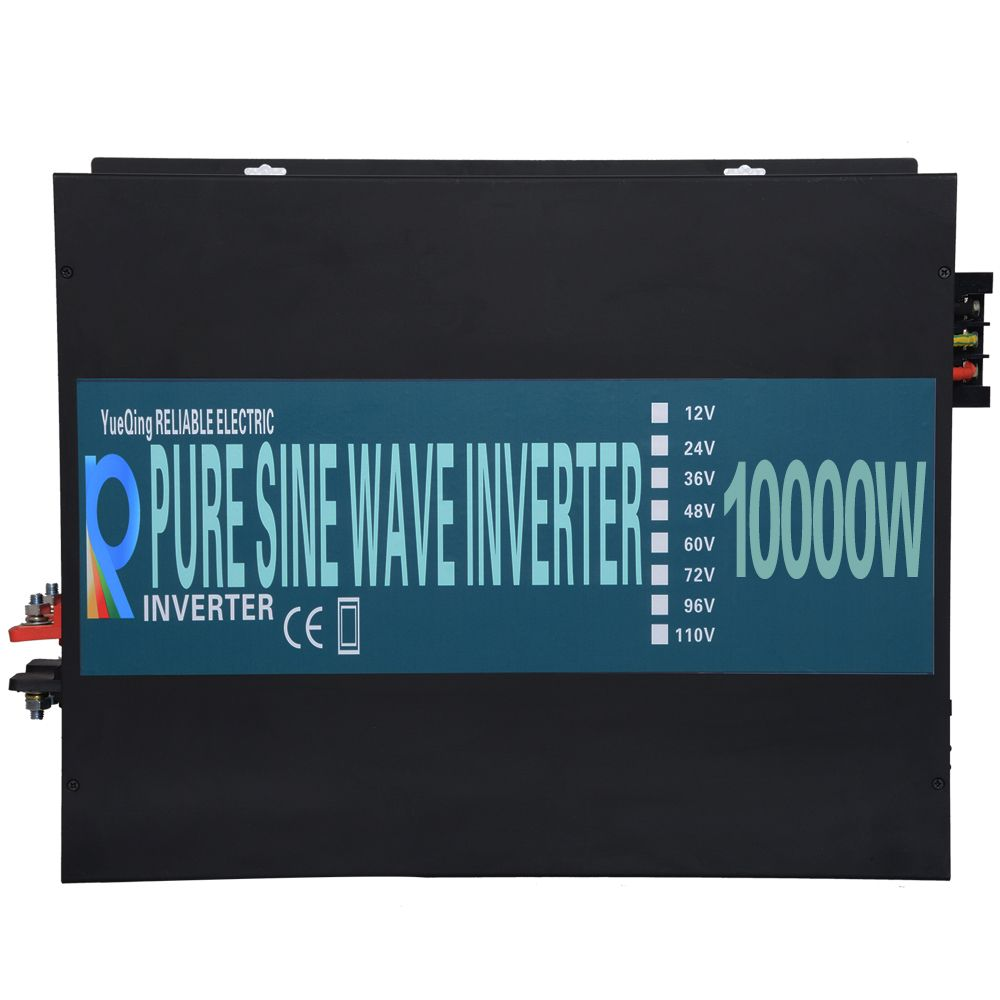 Battery Inverter 12V 220V 10000W Pure Sine Wave Solar Inverter Solar Panel Converter 24V/48V DC to 110V/120V/230V/240V AC Pump