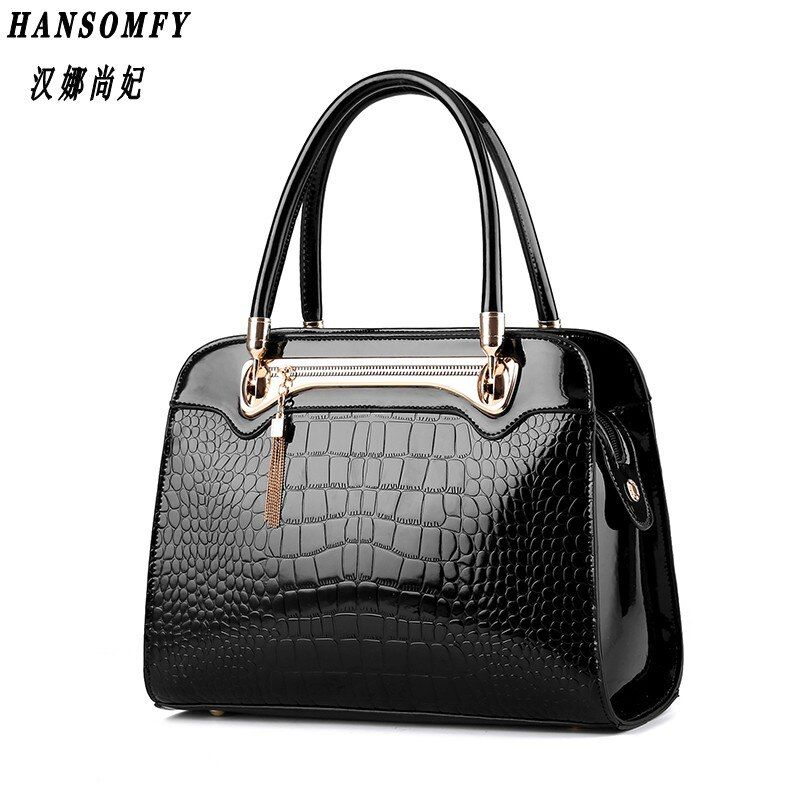 100% Genuine leather Women handbags 2017 New Crocodile pattern Fashion European style single shoulder bag messenger handbag