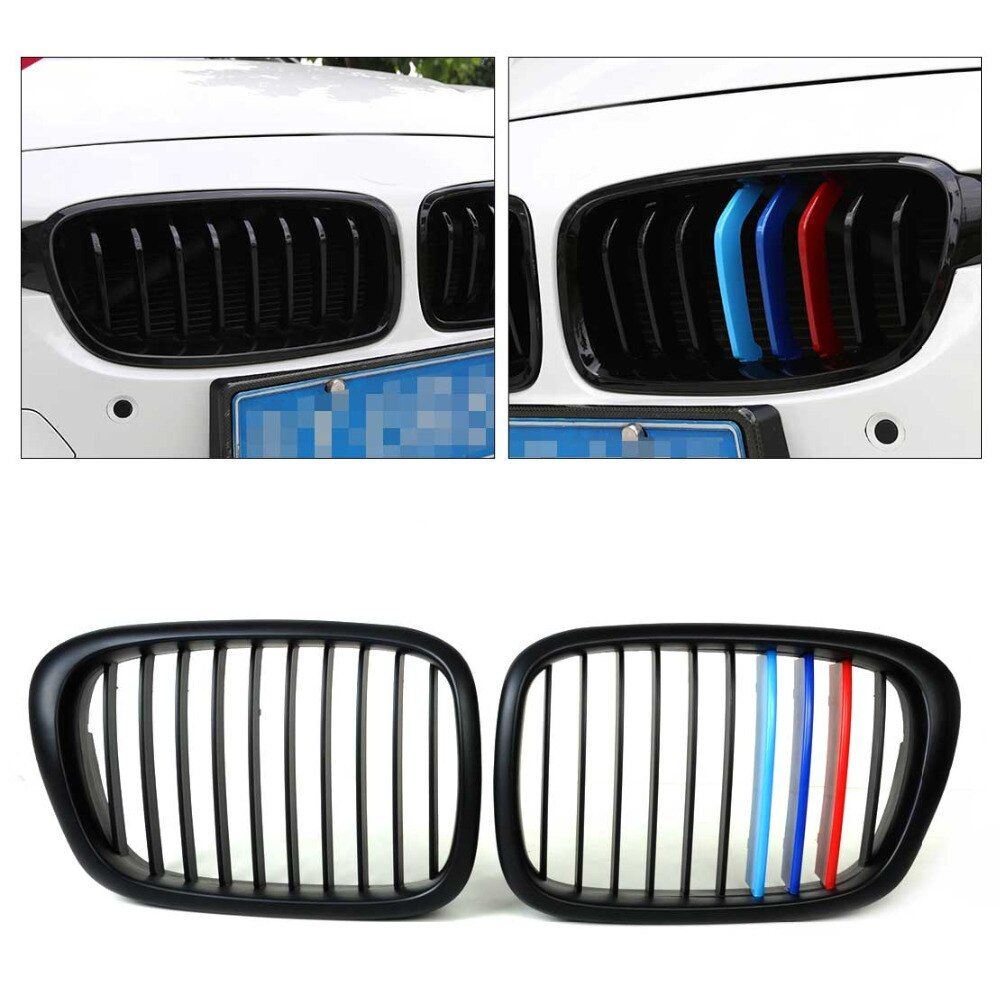 CITALL M-Color Front Gloss Wide Kidney Grille Grill for BMW 5 Series E39 525/528/535/540/M5 1995 - 1999 2000 2001 2002 2003 2004