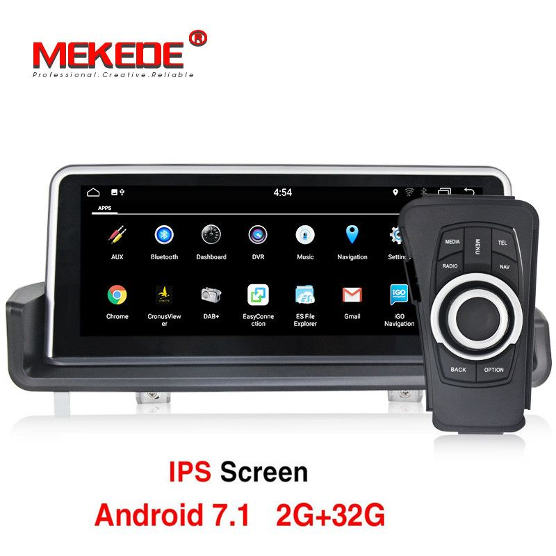 10.25 inch Car Multimedia Player GPS Android 7.1 1 Din DVD Automotivo For BMW/3 Series E90/E91/E92/E93 2GB RAM Radio FM Wifi