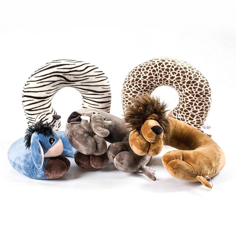 1 pièces nouveau mode U forme voiture cou oreillers dessin animé Animal coussin voyage oreiller cou soutien pour avion voiture bureau maison sommeil