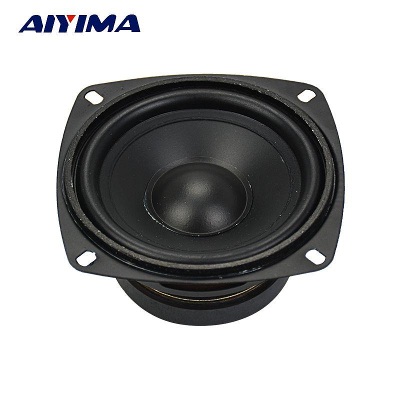 AIYIMA 1 Pc haut-parleur de caisson de basses Audio 4 pouces 30 W 8 ohms haut-parleur de grave de grave pour système de son Home cinéma