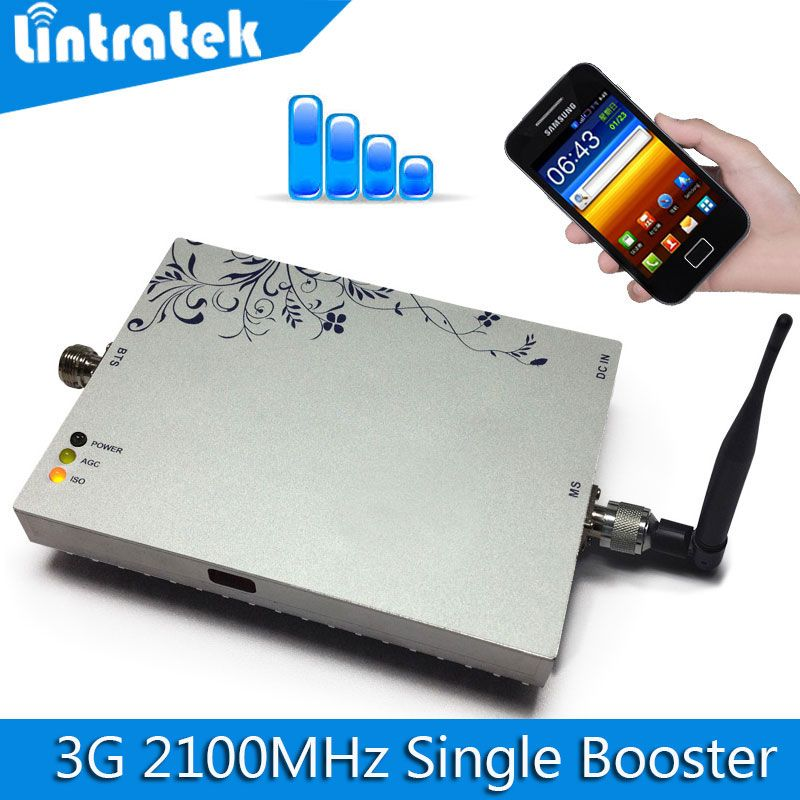 Lintratek 3G Repeater Amplifier WCDMA 2100MHz Signal Booster 2100 LTE Band 1 Mobile Phone Signal Repeater With MGC