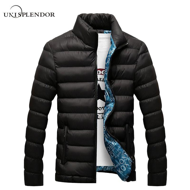 Unisplendor зима Для мужчин куртка 2018 Марка Повседневное Для мужчин S Куртки и Пальто для будущих мам Толстая парка Для мужчин пиджаки 4xl куртка му...