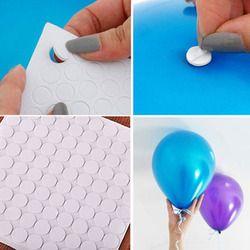 100 puntos fijación del punto del pegamento del accesorio del globo globos para techo o pared pegatinas globo fiesta de cumpleaños boda wholesal