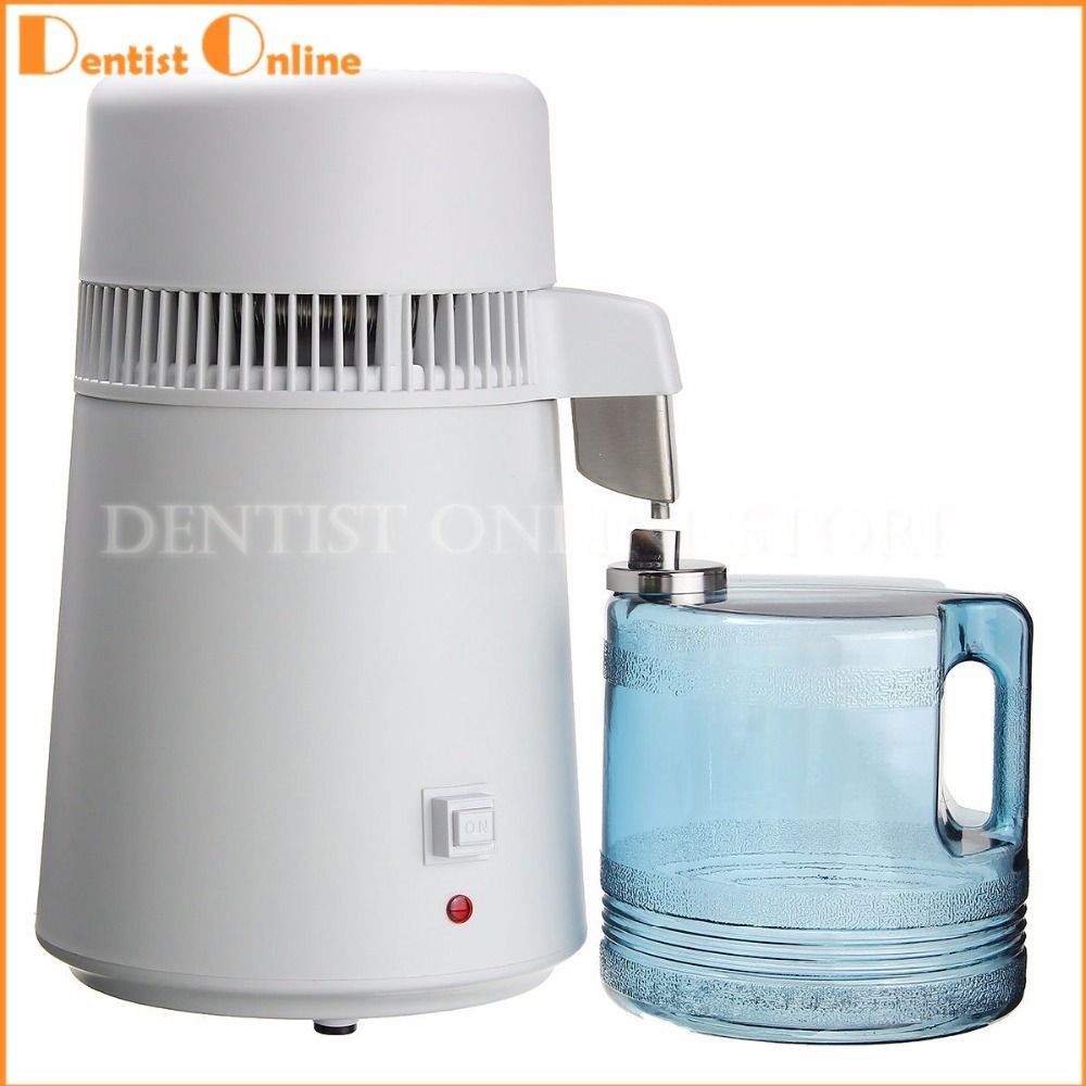 Water Distiller Filter Pure Stainless Steel 4l Dental Purifier Carbon Activated Free Shipping
