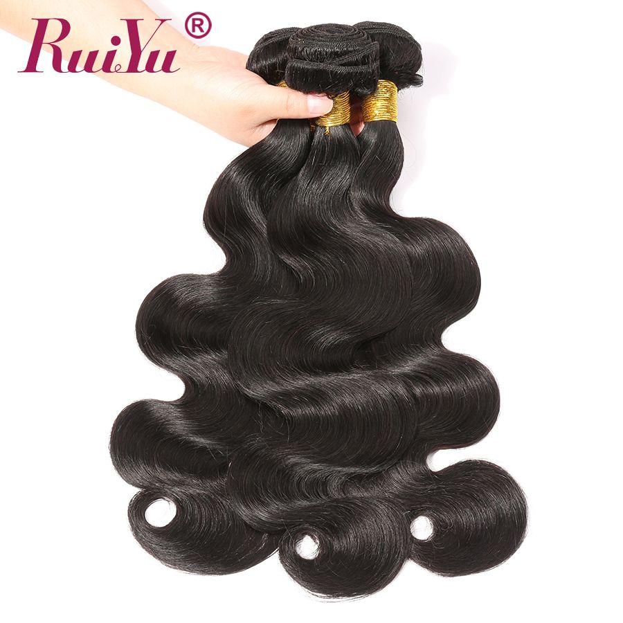 Paquets brésiliens de vague de corps 100% paquets d'armure de cheveux humains 3/4 offres de paquet Non Remy paquets de cheveux Extensions de cheveux humains RUIYU
