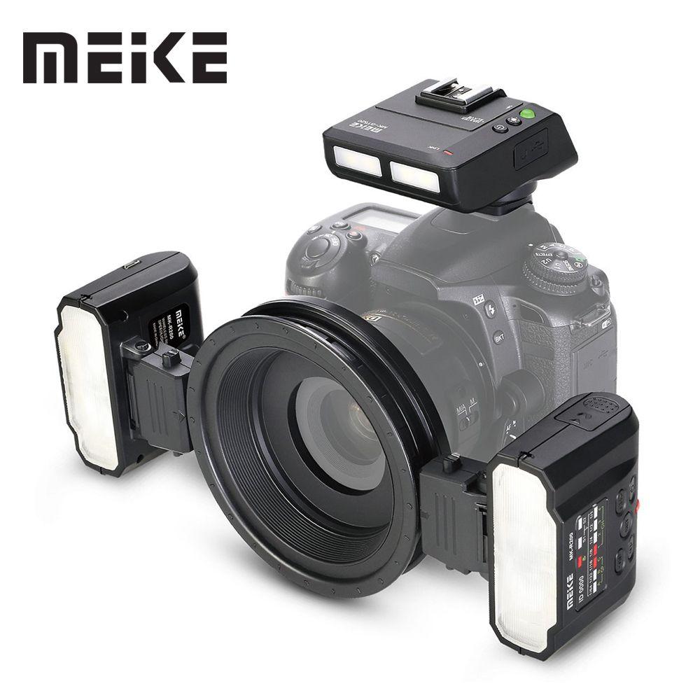 Meike MK-MT24 Macro Twin Lite Flash for Nikon Digital SLR Camera D5100 D5200 d5300 D700 D800 D810 D80 D90 D600 D610 D3100 D3200