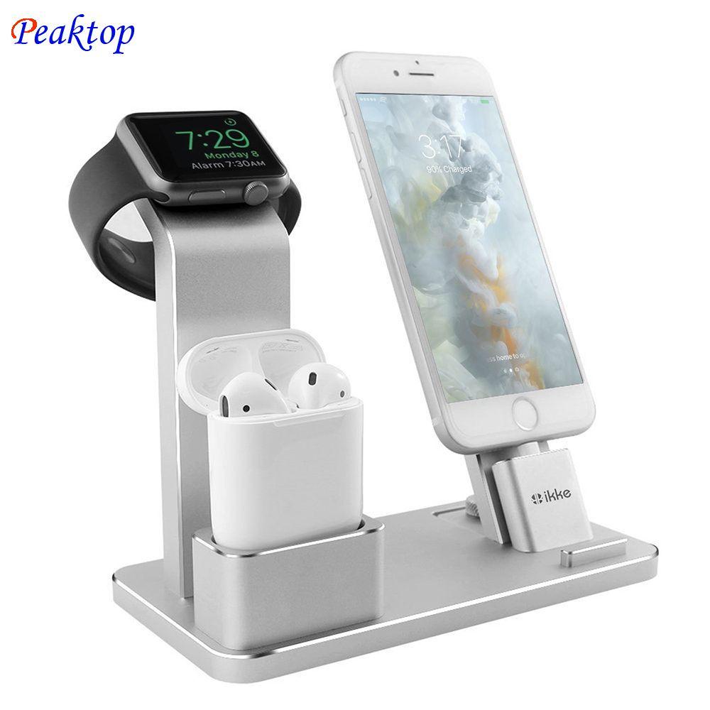 Peaktop Ladestation Station Ständer Halter für AirPods IPad Air Mini Apple uhr iWatch 38mm 42mm iPhone X 8 7 6 6 S 5 S SE Plus