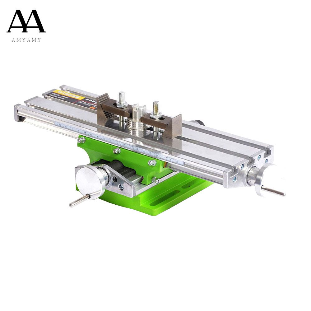 AMYAMY Mini Multifunctional Cross Working slid Table compound table worktable Bench For Drill Milling Machine 6330 ship from USA