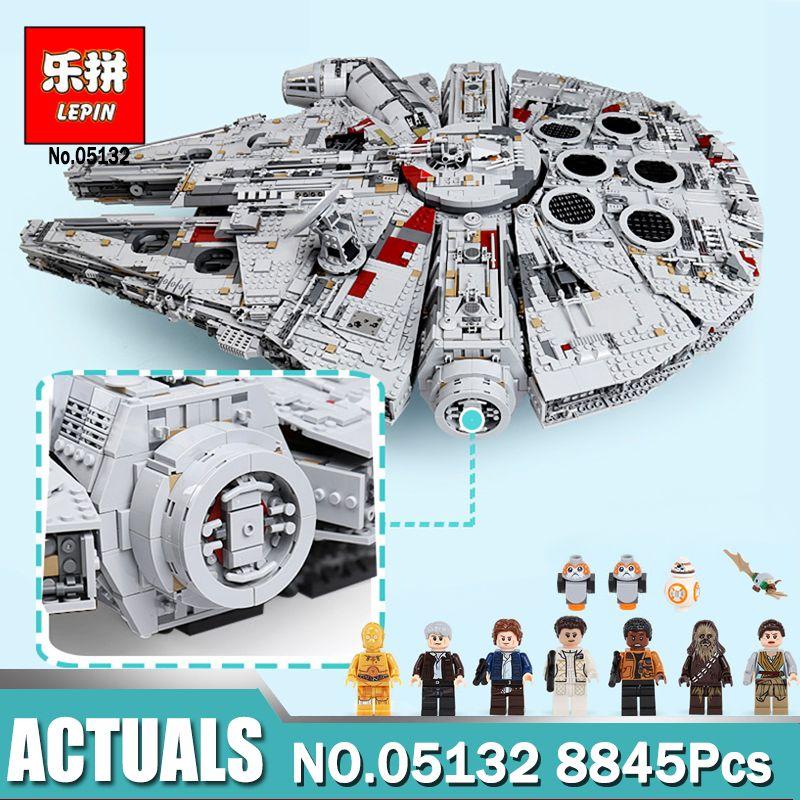 lepin 05132 star wars star destroyer millennium falcon LegoINGlys 75192 starwars bricks model building blocks toys for Children