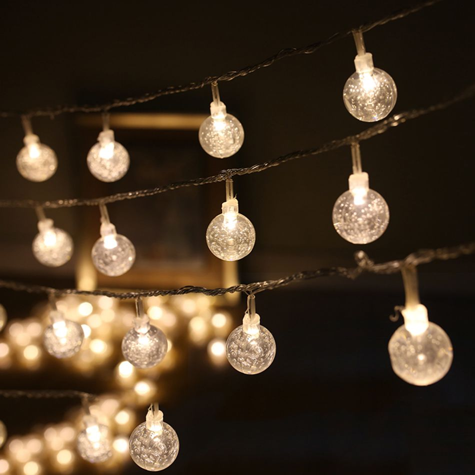 4M 40pcs leds round transparent ball DIY led string light decoration,3AA battery operated party supplies,home,garden decoration