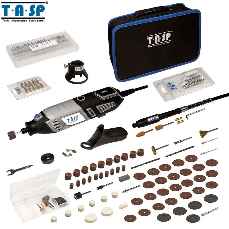 TASP MMD1700 220V 170W Rotary Tool Set Electric Mini Drill Engraver Kit Mini Grinder Power Tools with Accessories