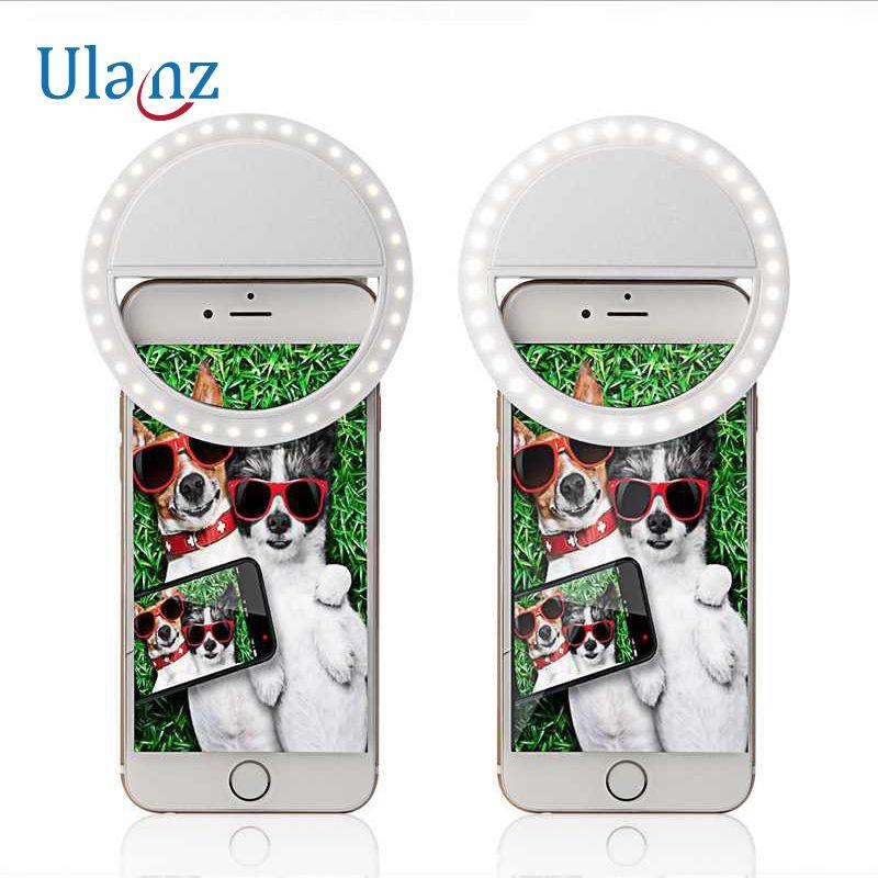 Breloque yeux téléphone portable Selfie anneau éclairer Flash photographie lampe lumineuse 36 pièces 3 luminosité pour iPhone Samsung téléphone clip