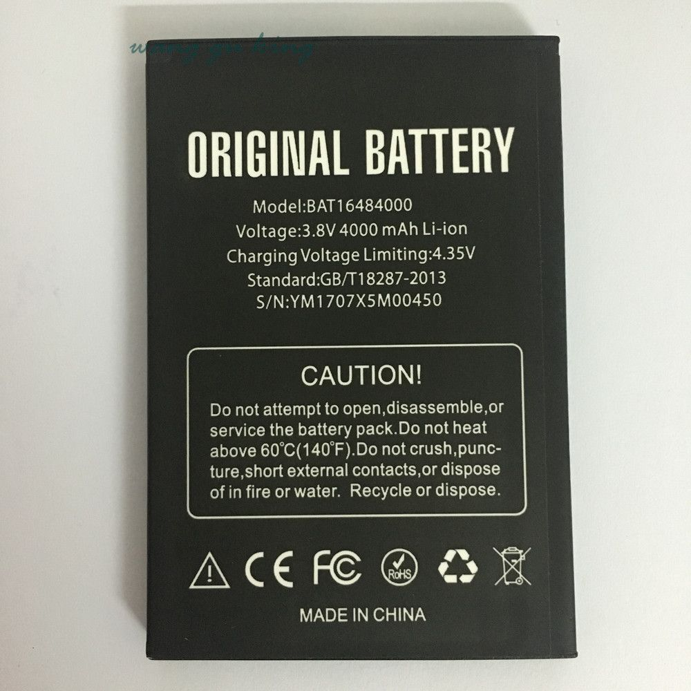 1pcs 100% High Quality BAT16484000 4000mAh Battery For DOOGEE X5 MAX x5max Pro phone battery +Tracking Code
