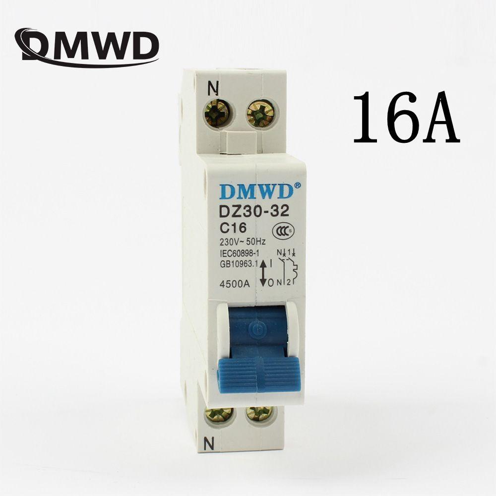 Mini-schutzschalter DPN mini DZ30-32 1 P + N 16A 220 V 230 V 50 HZ 60 HZ Schaltung Breaker DIN-SCHIENE RCBO GUTE QUALITÄT FI-SCHUTZSCHALTER