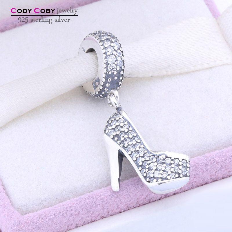 Туфли на шпильке Медальон бусины Fit оригинальный пандоры браслеты на высоком каблуке обуви 925 серебро berloques в Para Pulsera ювелирные изделия
