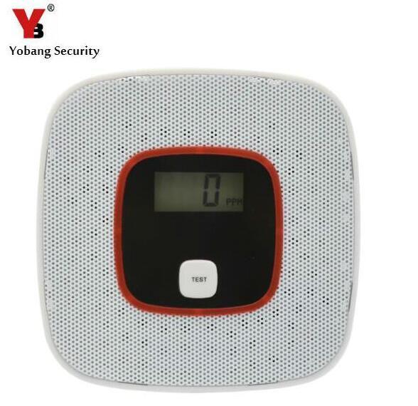Yobang Security co детектор охранных Детская Безопасность сигнализации ЖК-дисплей фотоэлектрический угарного газа Сенсор отравления угарным газо...