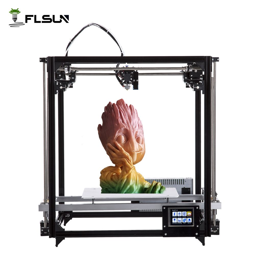 Flsun Square 3D Printer High Precision Large Printing Area Touch Screen Auto Leveling Heated Bed Kit & Two Roll Filament Gift