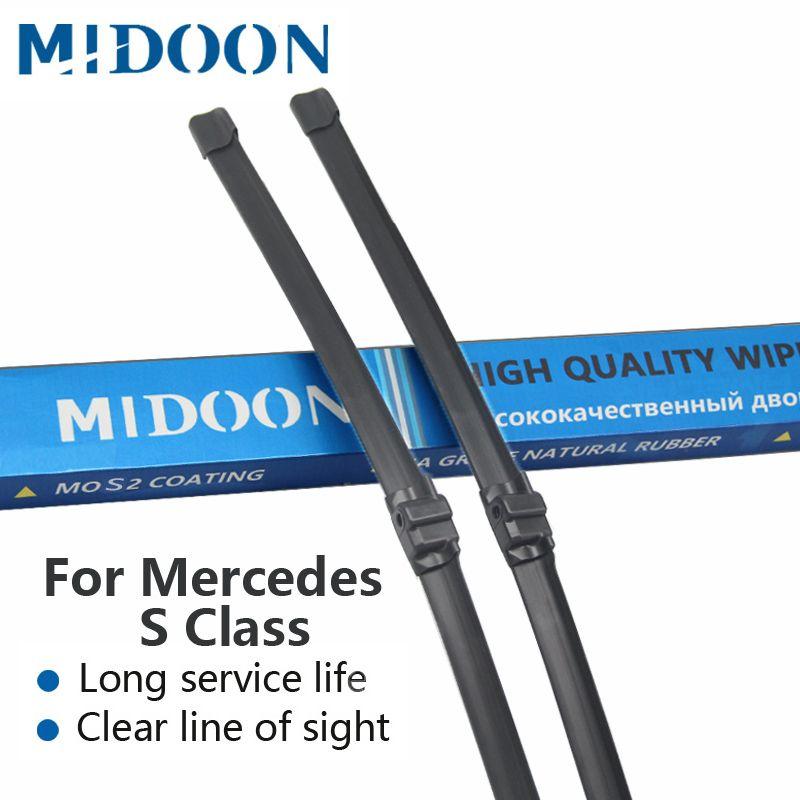 MIDOON Wischer Klingen für Mercedes Benz S Klasse W220 W221 S250 S280 S300 S320 S350 S400 S420 S430 S450 S500 s600 S55 S63 AMG CDI