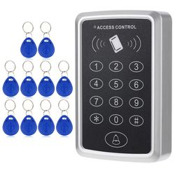 Home Security 125KHz Single RFID Card Proximity Entry Door Lock Access Control System With 10pcs RFID Keys Key Fob