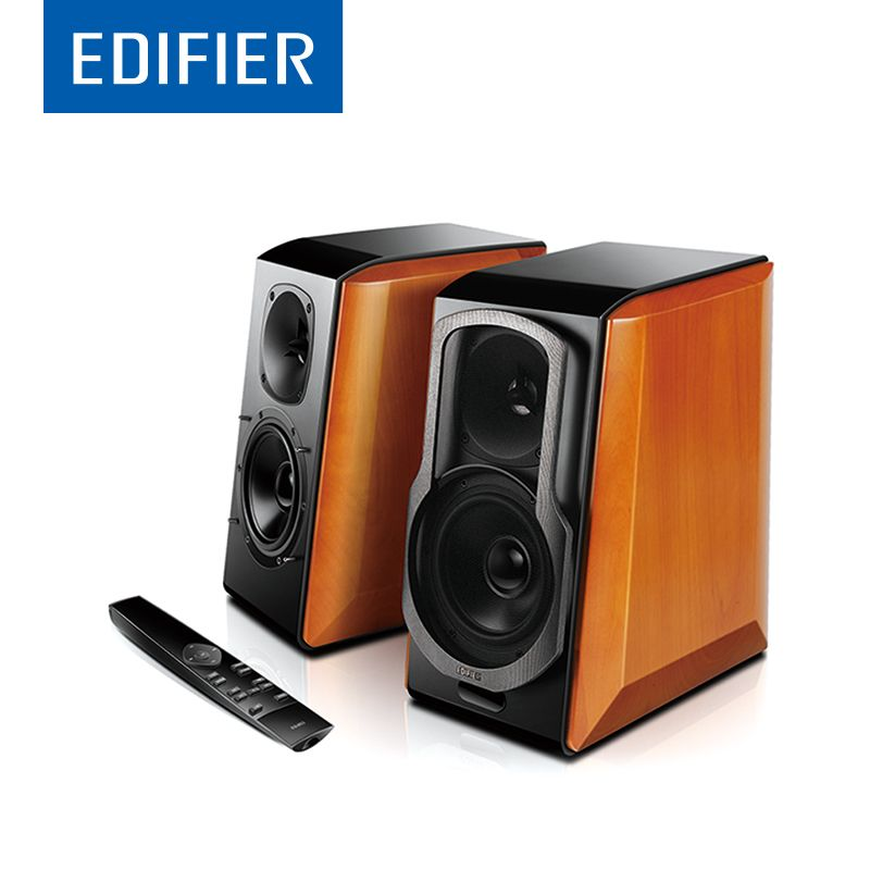 EDIFIER S2000 Pro HIFI Bluetooth Speaker Full Digital Amplifier Powerd Bookshelf Bluetooth Speaker Support Apt-X Remote Control