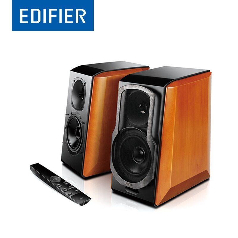 EDIFIER S2000 Pro HIFI Bluetooth Speaker Full Digital Amplifier Powerd Bookshelf Bluetooth Speaker Support Apt-X Remote Control